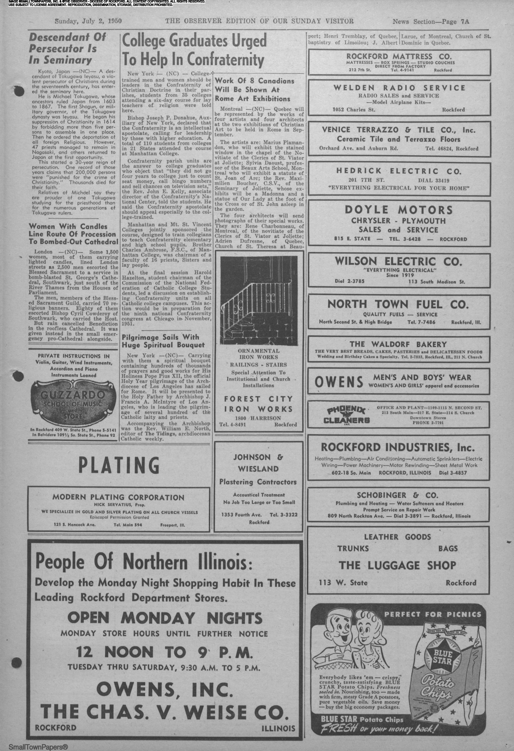 The Observer July 2 1950 Page 7